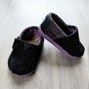 Toms | purple plaid baby toms | T3